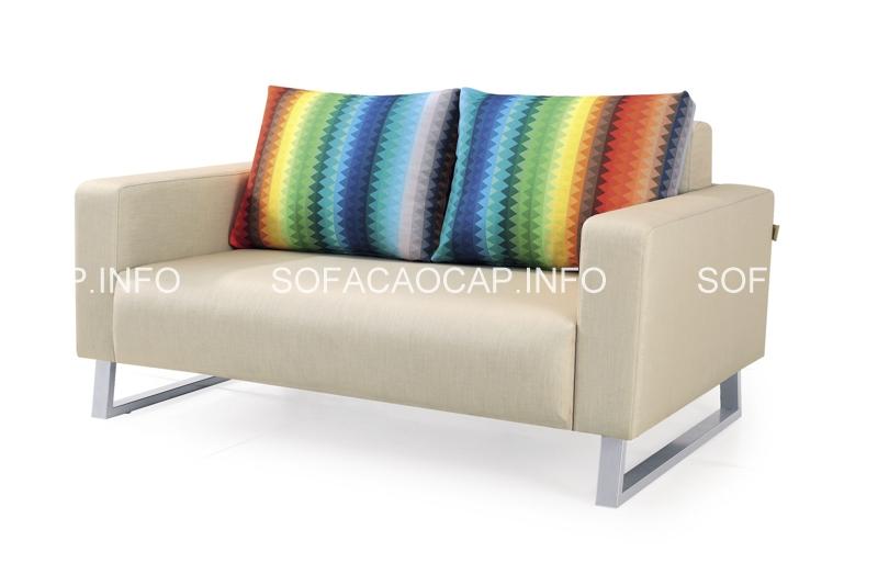 Kiểu dáng thời trang và trẻ trung chính là điểm sáng của sofa giường bọc vải