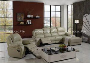 Sofa thư giãn chất liệu da cho phòng khách hiện đại