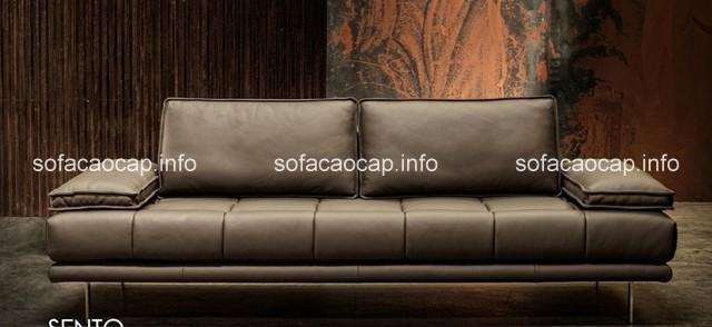 ghế sofa da cho phòng khách sang trọng