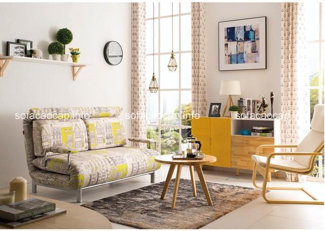 cách chọn bộ bàn ghế sofa giường cho phòng khách nhỏ
