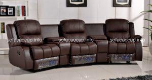 Lựa chọn sofa thư giãn chất liệu da công nghiệp cho phòng khách gia đình