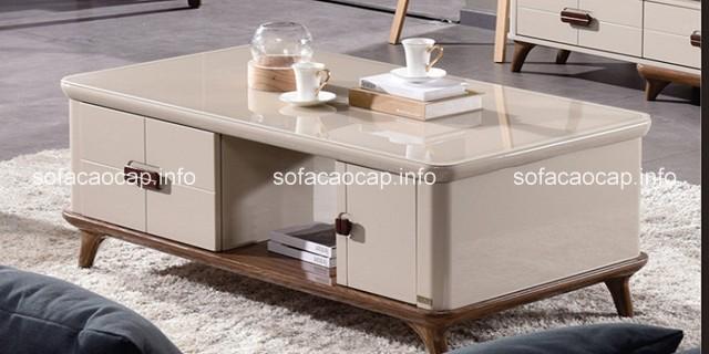 Các mẫu bàn trà đẹp với thiết kế trẻ trung, hiện đại giúp bạn dễ kết hợp với các món đồ nội thất khác
