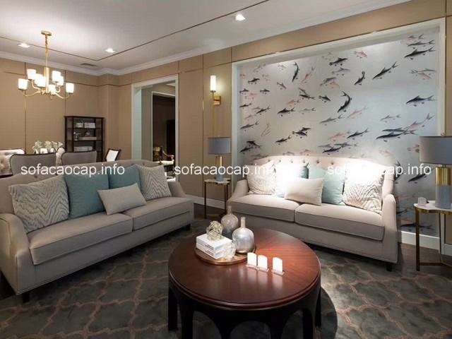 Với thiết kế tinh tế, sang trọng, đẳng cấp ,những bộ sofa nhập khẩu cao cấp rất thích hợp cho phòng khách chung cư đẹp