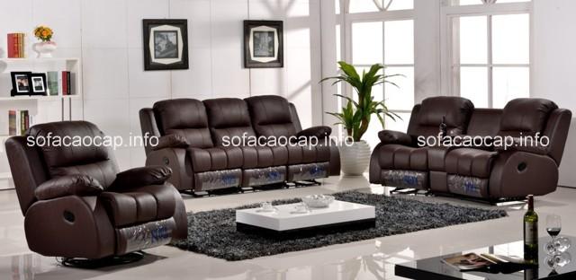 Sofa da cao cấp nhập khẩu luôn là sản phẩm được lựa chọn nhiều nhất cho không gian phòng khách
